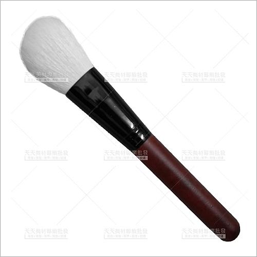 羊毛斜型蜜粉刷(紅木桿)-單支(化妝刷具.修容)[53439]