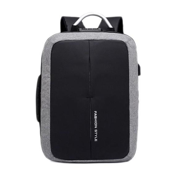 商務型背包多功能附鎖升級版USB外接孔筆電學生背包耐重後背包學生休閒筆電輕旅行書包防水多隔層商務【B503】
