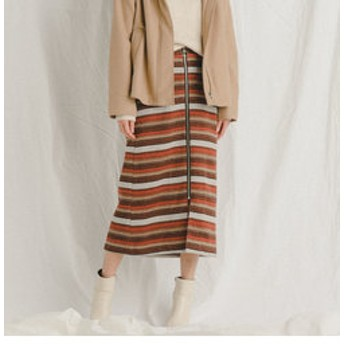 【J Lounge:スカート】オルテガジャガードタイトスカート