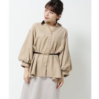 【レイカズン/RAY CASSIN】 ミクロコールボリュームスリーブシャツ
