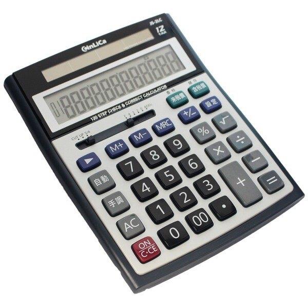CinLica 120行查數 JS-2LC 中文稅率計算機/一袋5台入(促350) 桌上型商用計算機 大型12位數-信力