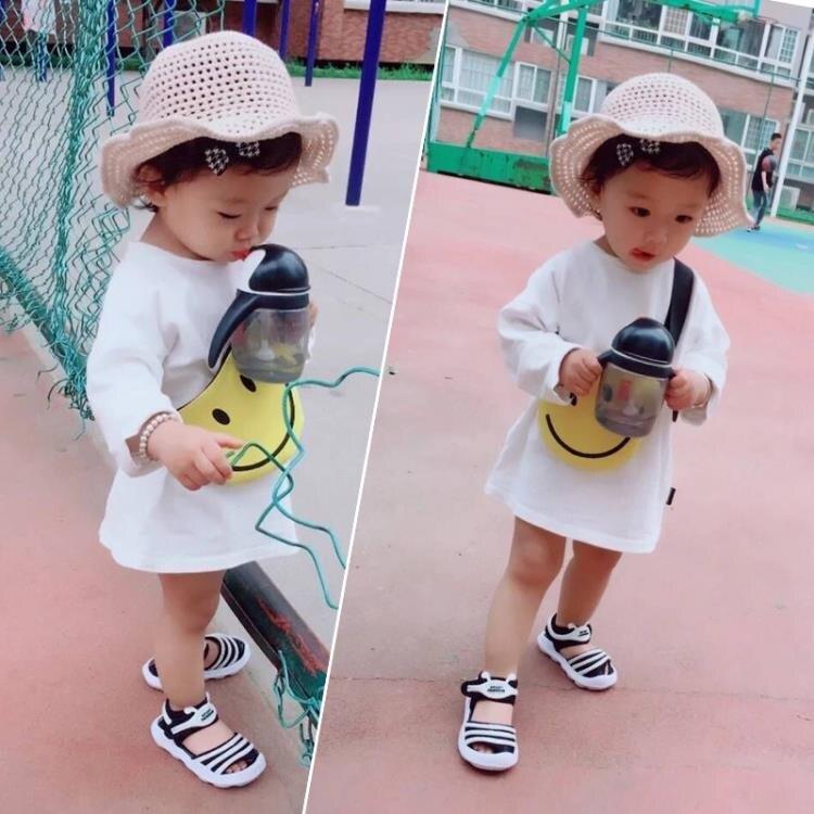 「樂天優選」米蘭 夏季男寶寶鞋嬰兒毛毛蟲軟底鞋子1一3歲2小女童學步兒童公主涼鞋