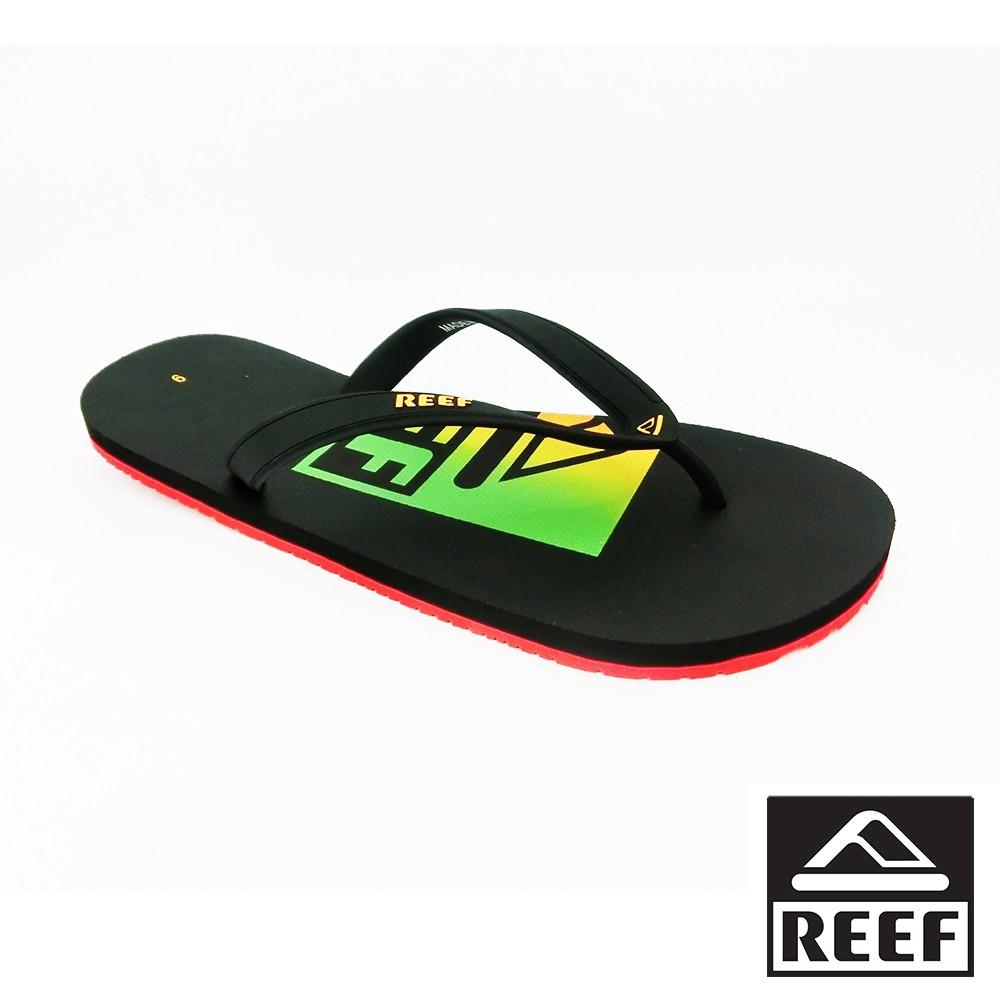 REEF 大腳13號 logo基本款橡膠 男款夾腳人字拖鞋 - 多彩LOGO 廠商直送 現貨