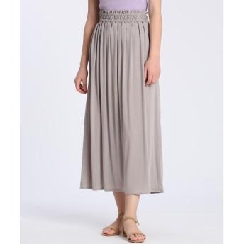 イネド 《YVON》ギャザースカート レディース グレーベージュ3 09 【INED】