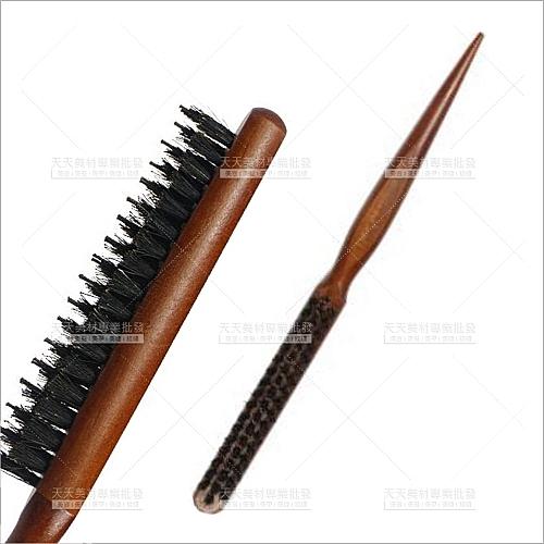 派迪三排鬃毛木柄尖尾刮梳-單支(美髮梳子)[23077]