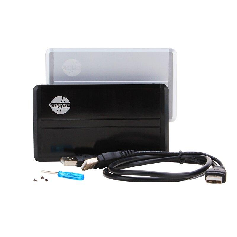 硬碟盒 comtop 筆記本硬碟盒ide針式並口2.5寸老式硬碟盒外置盒USB2.0『XY2332』