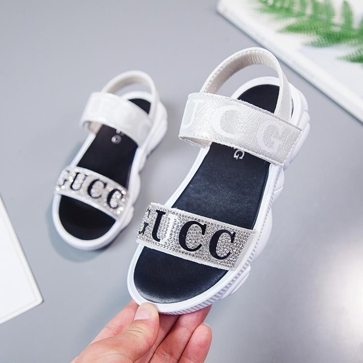 「樂天優選」女童涼鞋時尚韓版夏季兒童鞋小熊公主鞋軟底小女孩中大童