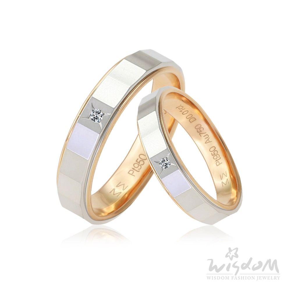 威世登 浪漫約定玫瑰K鉑金鑽石對戒-男戒 DA03808B-BHXXX