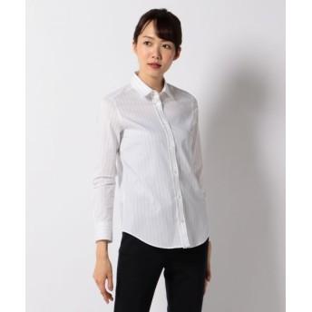 ICB/アイシービー 【00・0サイズ有り】【洗える】Cotton Shirting シャツブラウス ネイビー系1 6