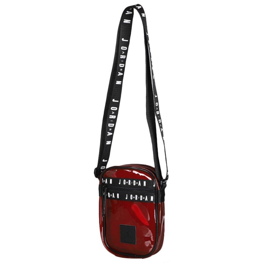 NIKE JORDAN JUMPMAN 背包 側背 透明 紅【運動世界】JD2023009GS-001