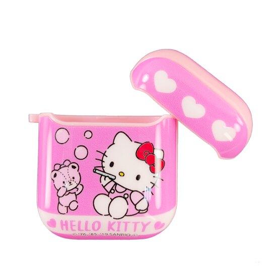 【領券折$30】小禮堂 Hello Kitty Apple Airpods 保護殼 藍牙耳機盒 保護套 裝飾殼 (粉 小熊)