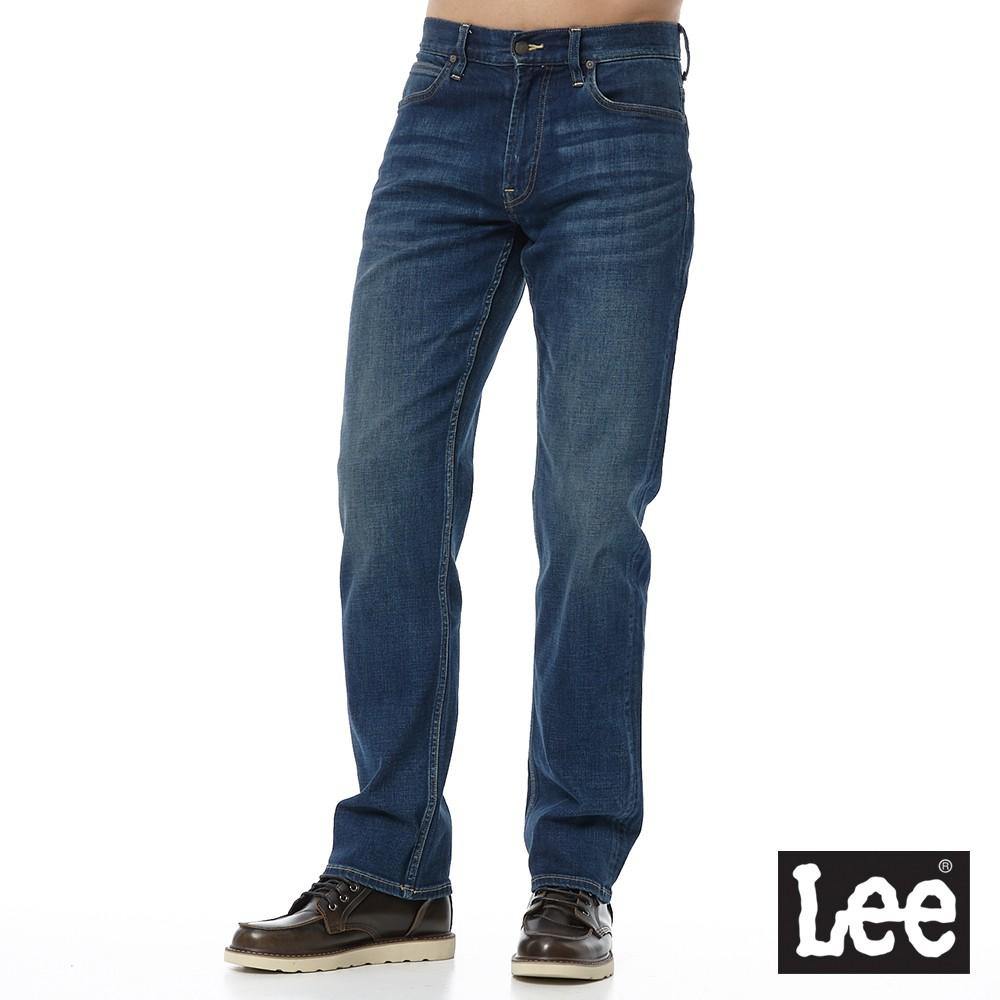 Lee 743 中腰舒適直筒牛仔褲 男 深中藍 彈性 Mainline