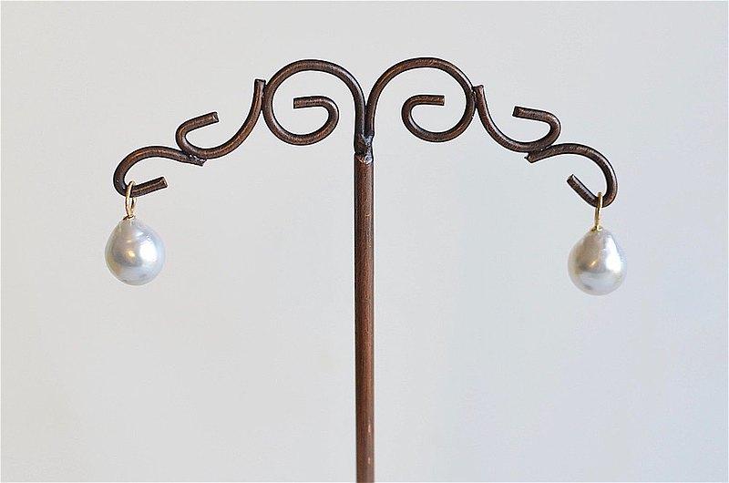 吊式耳環/耳環對串飾南洋珍珠