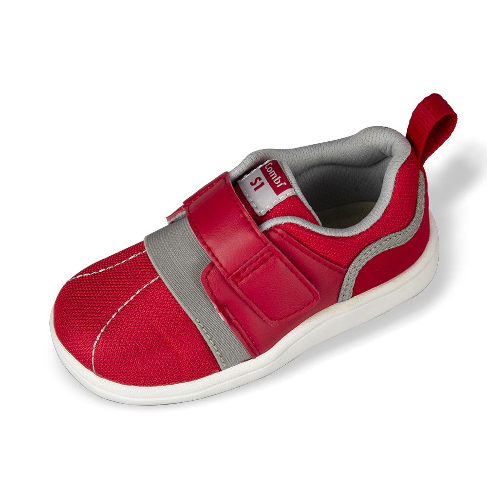 日本Combi童鞋- NICEWALK 醫學級成長機能鞋-AO1RD紅-寶寶段12.5~18.5cm