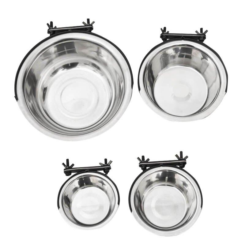 S號 304不鏽鋼掛式寵物碗 寵物碗 狗碗 飼料碗 水碗 雙11購物節