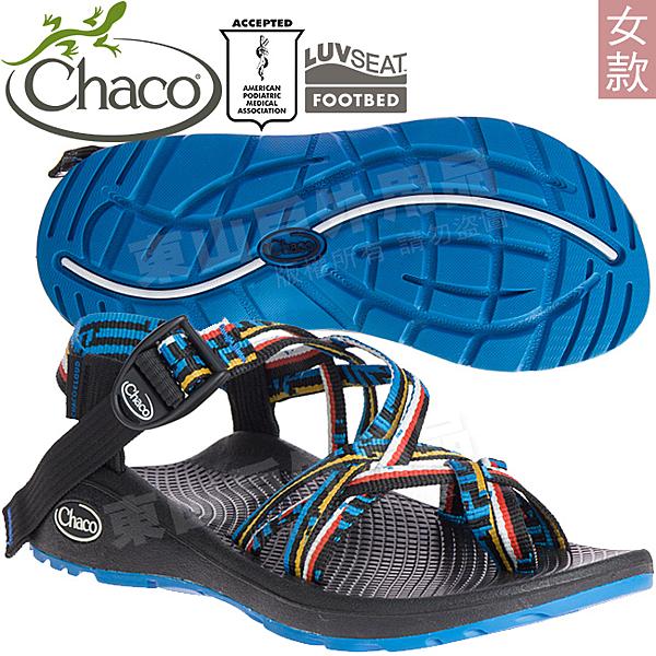 Chaco ZLW04_HG15藝術藍鵲 女越野紓壓涼鞋-Z/Cloud X2 美國佳扣拖鞋/水陸兩用/沙灘鞋/織帶運動鞋