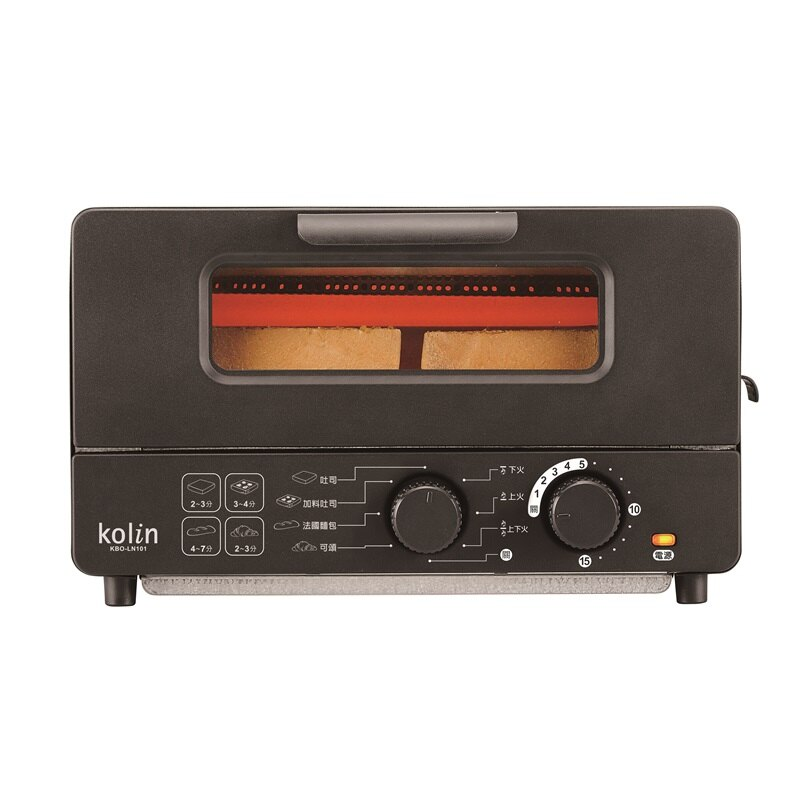 限時下殺$1782【Kolin歌林】10L蒸氣烤箱 烤吐司 烤麵包 黑色 KBO-LN101 保固免運