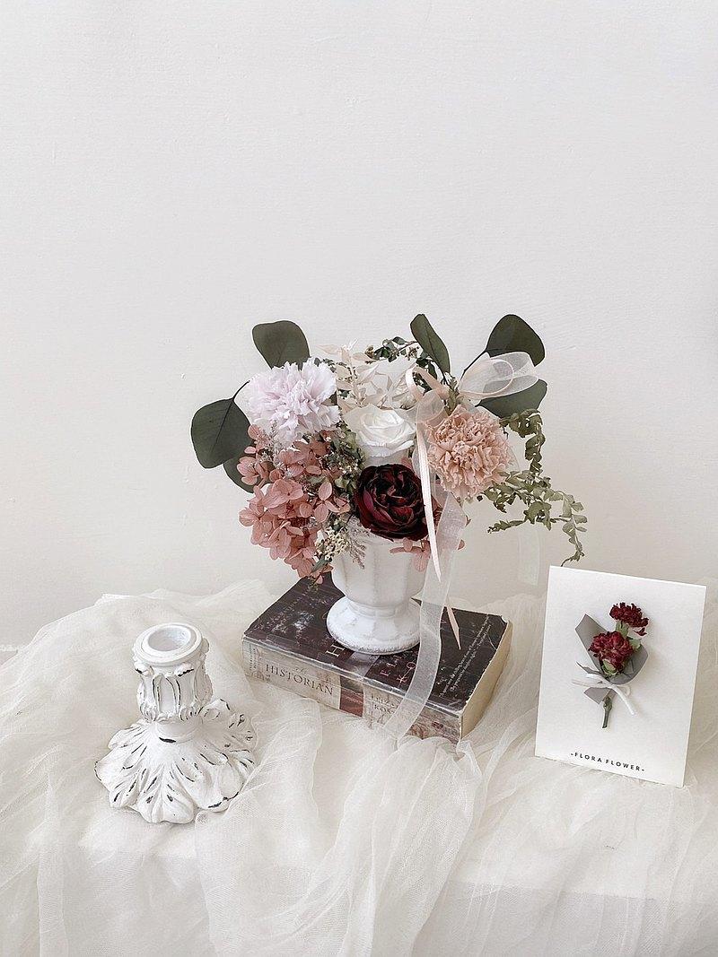 康乃馨桌花 母親節禮物 母親節花禮 桌花 永生花