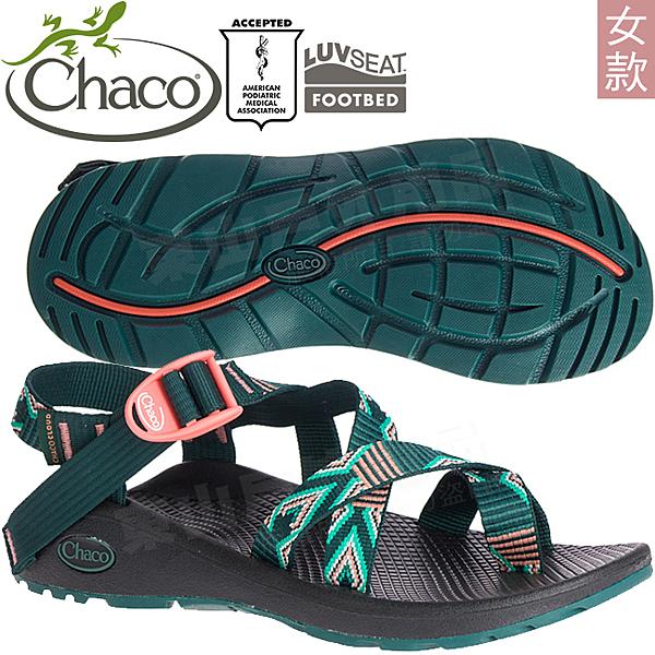 Chaco ZLW02_HG09熱帶教堂 女越野紓壓涼鞋-Z/Cloud 2 美國佳扣拖鞋/水陸兩用/沙灘鞋/織帶運動鞋