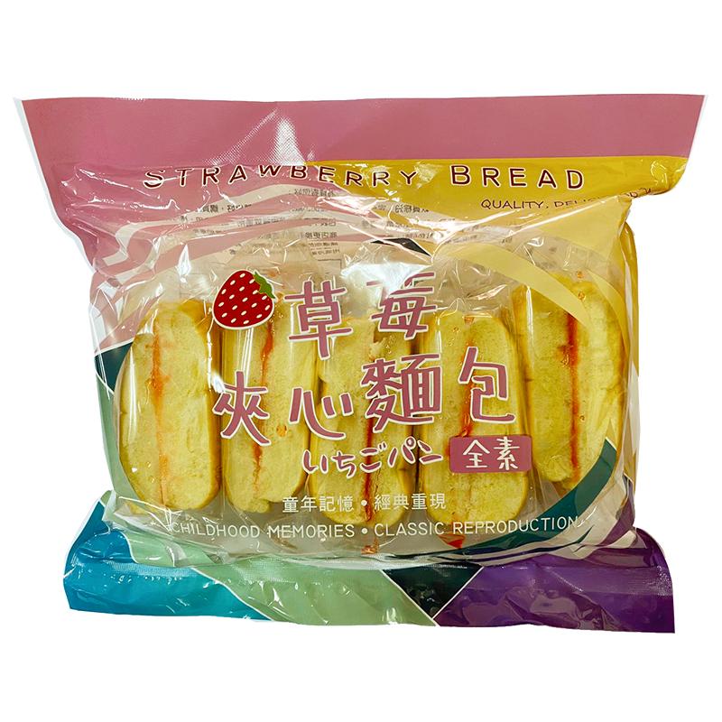 草莓夾心麵包-350g