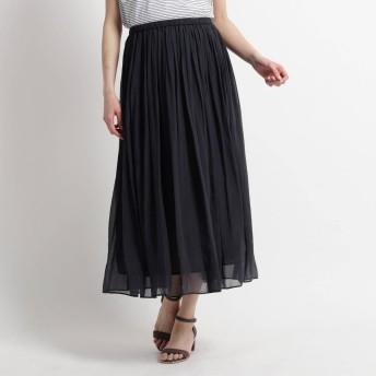 スーナウーナ SunaUna 【洗える】ブランロングスカート (ブラック)