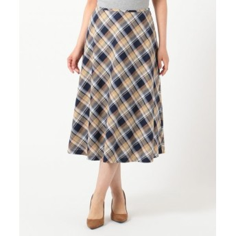 J.PRESS/ジェイプレス 【洗える】BEZ TEKSTIL社マドラスチェック スカート ネイビー系5 9