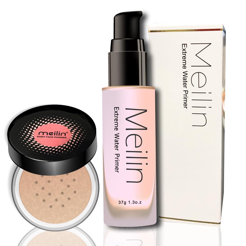 MEILIN保濕潤色妝前乳+MEILIN 清透蜜粉
