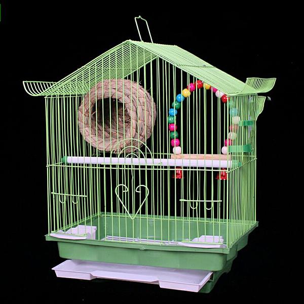 不鏽鋼色鳥籠子玄鳳虎皮??大號繁殖別墅活鳥小號小型豪華籠子 快速出貨
