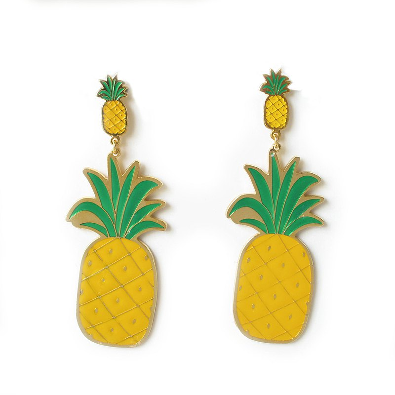 大菠蘿耳環