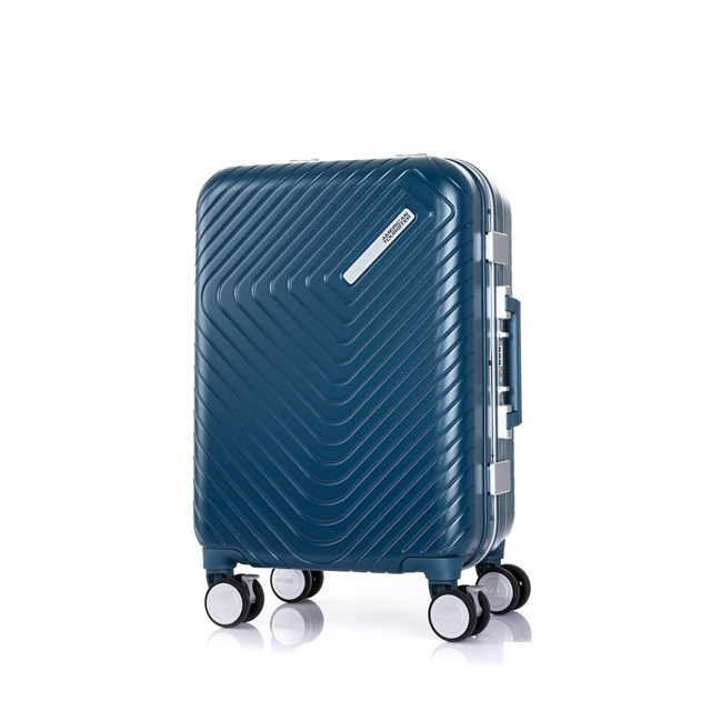 AT 美國旅行者 20吋Esquino 鋁合金細框剎車雙輪登機箱 藍 GN1*71001