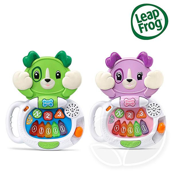 Leap frog 跳跳蛙 躲貓貓筆電小狗 (綠/粉紫)【佳兒園婦幼館】
