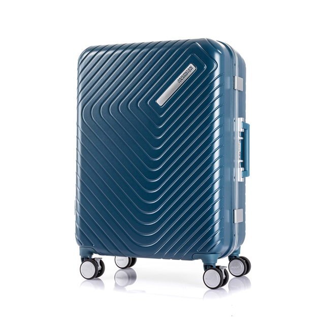 AT 美國旅行者 24吋Esquino 鋁合金細框剎車雙輪行李箱 藍 GN1*71002