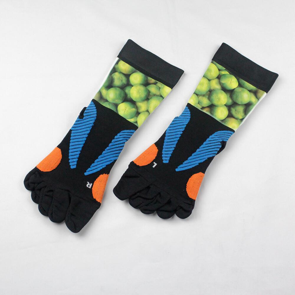 magic美肌刻 止滑護踝五趾 五趾止滑運動襪 橘子 jg-00420y02m02