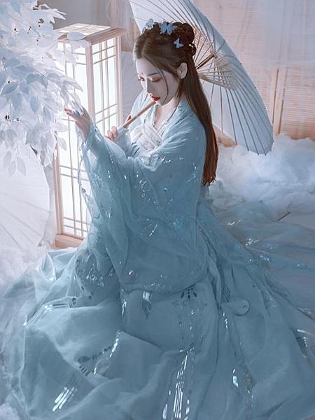 漢服藝縷仙鶴漢服女設計襦裙廣袖仙女飄逸傳統中國風大袖衫春LX 衣間迷你屋