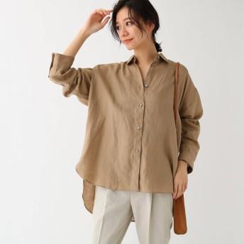 ドレステリア DRESSTERIOR フレンチリネンビッグシャツ (キャメル)