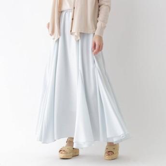 アクアガール aquagirl ドレープロングスカート (サックス)