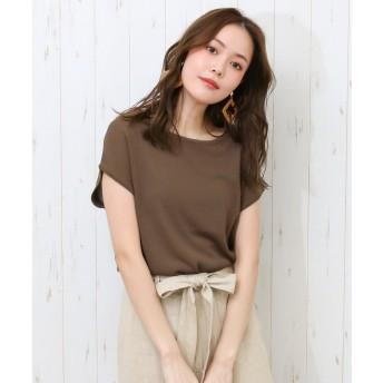 ソーシャルガール Social GIRL Uネック爽やかサマーニット (モカ)