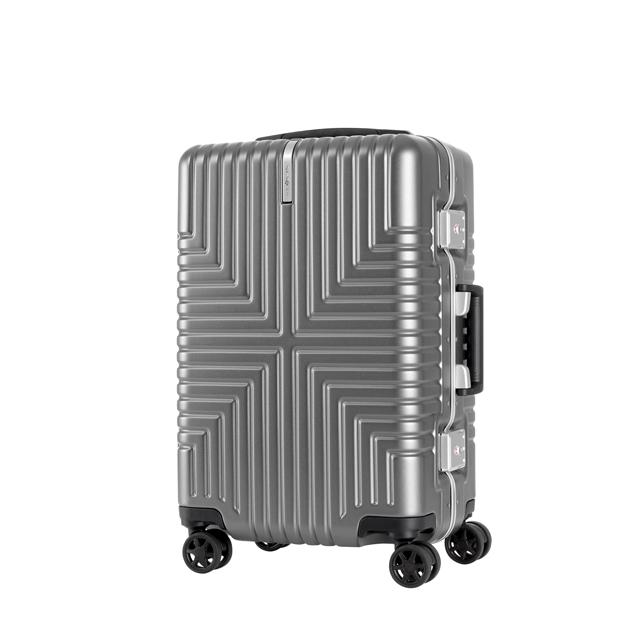 Samsonite新秀麗   20吋Intersect 高質感PC鋁框硬殼TSA登機箱  銀