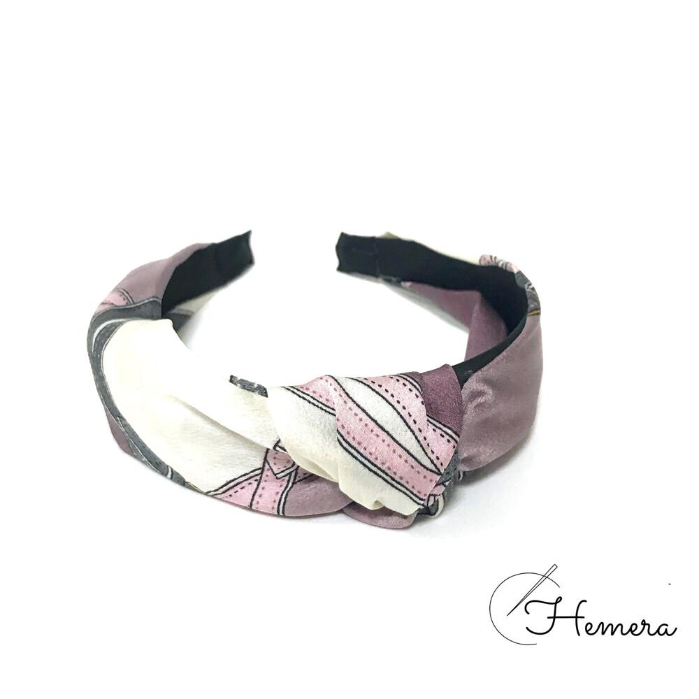 hemera | 貴婦花色髮箍 皮帶 h牌圖案 質感爆好 (紫色)