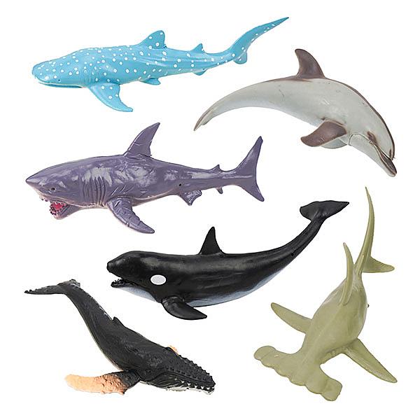 6入仿真海洋動物模型(小隻)(硬材質)(安全塑料)【888便利購】