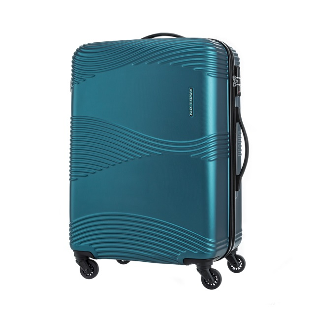 Kamiliant卡米龍  28吋Teku水波紋防刮硬殼TSA行李箱  深綠