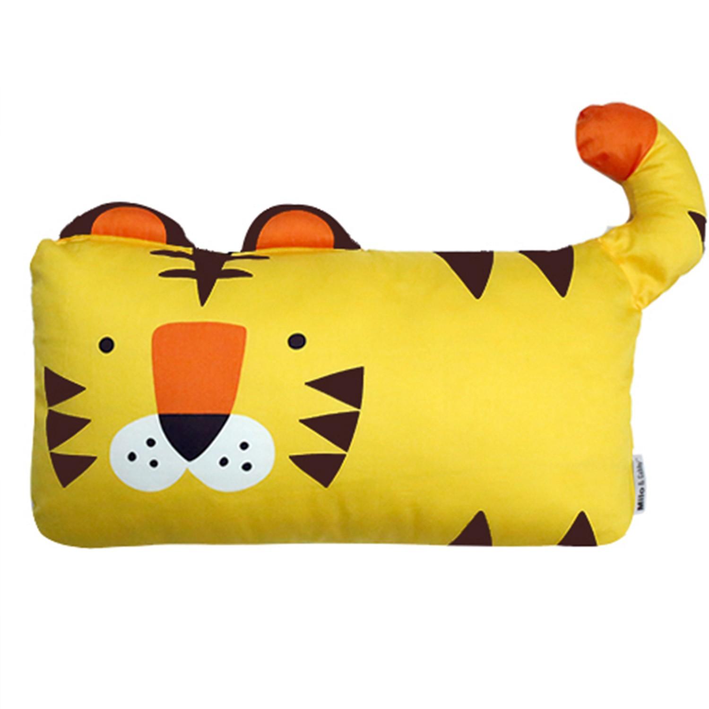 美國 Milo & Gabby - 動物好朋友-可水洗防蹣枕心+枕套組-TOM小虎 (mini枕-1歲以上)