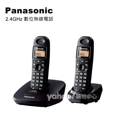 Panasonic 2.4GHz 高頻數位無線電話 KX-TG3612 (墨石黑)