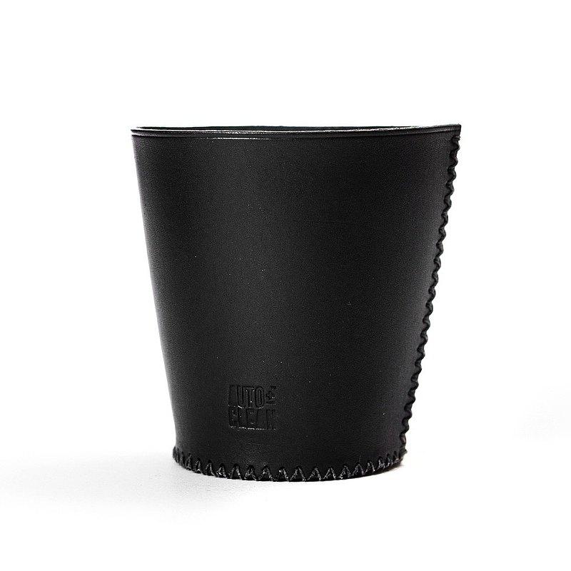 義大利植鞣革真皮手工杯套・台灣製造
