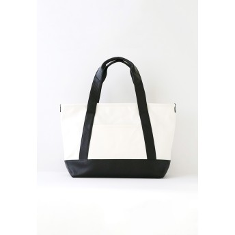 MOHEIM TOTE BAG M / white トートバッグM ホワイト トートバッグ,ホワイト