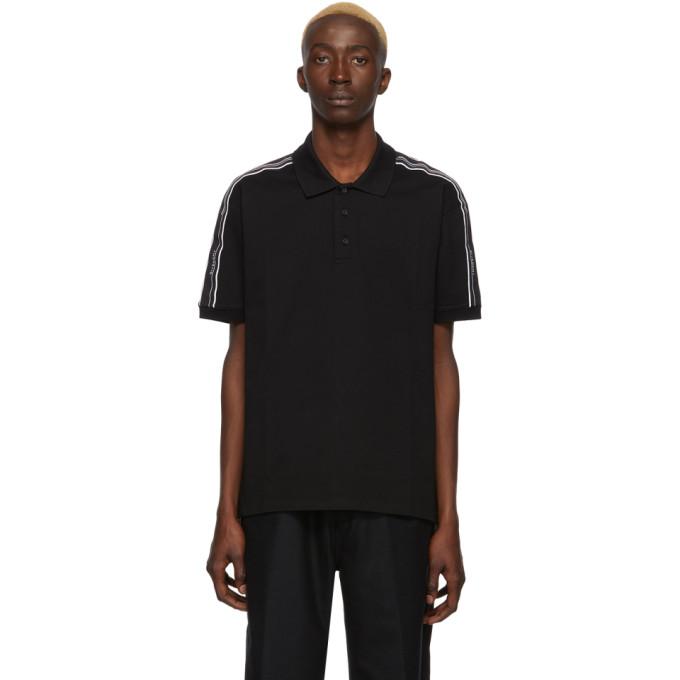 Givenchy 黑色弹性贴边 Polo 衫