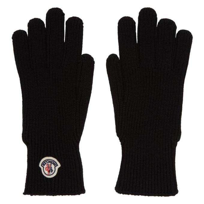 Moncler 黑色羊毛手套