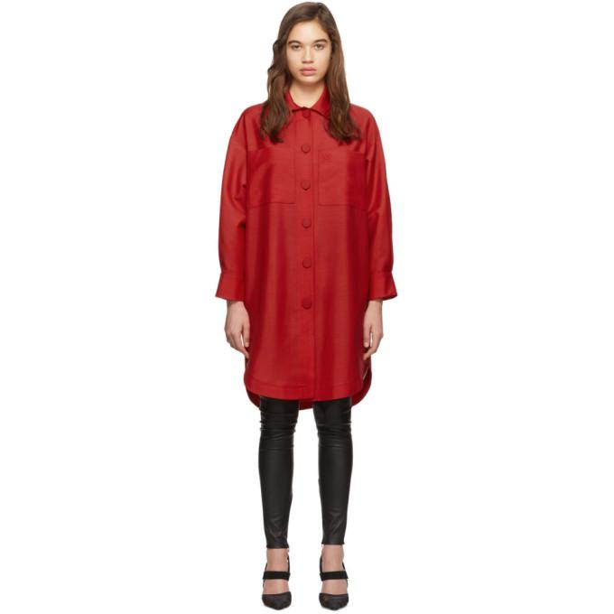 Fendi 红色 Karligraphy 大廓形衬衫