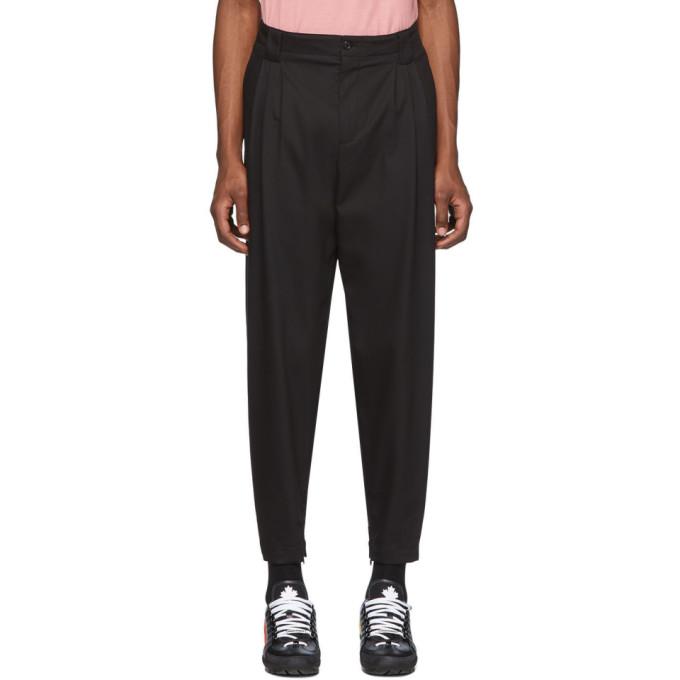 Dolce and Gabbana 黑色褶裥长裤