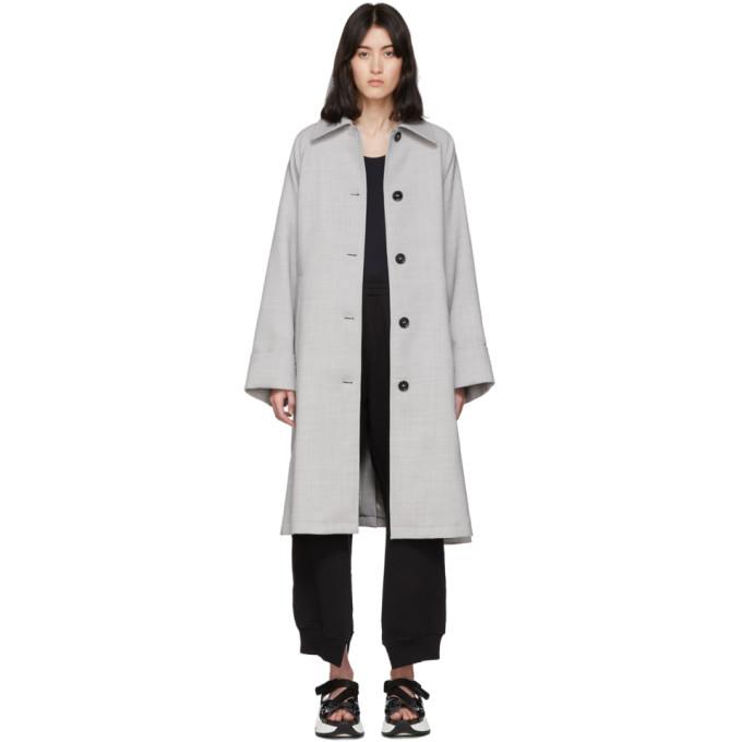 MM6 Maison Margiela 灰色羊毛风衣